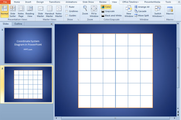Sistema de Coordenadas 2D en PowerPoint : : Plantillas Power Point
