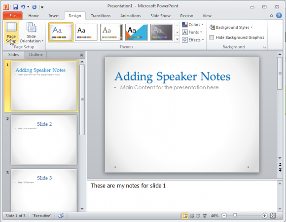 Cómo cambiar el tamaño de una diapositiva de PowerPoint 2010 ...