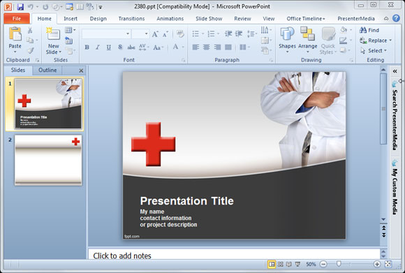 Free medical animated powerpoint templates toneelgroepblik Image collections