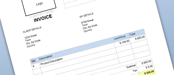 Billing invoice template microsoft word