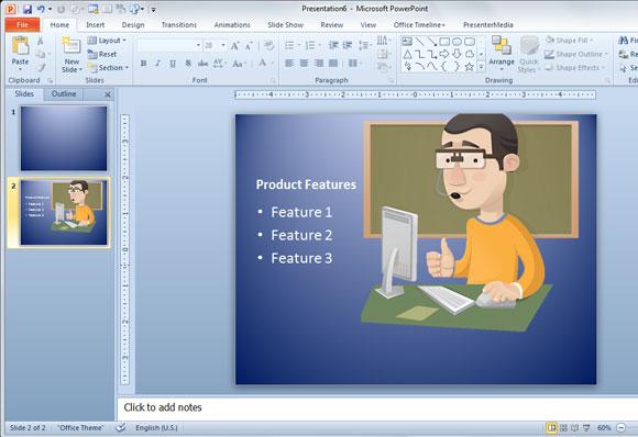 Hacer Presentaciones en PowerPoint con Personajes de Vectores Gratis
